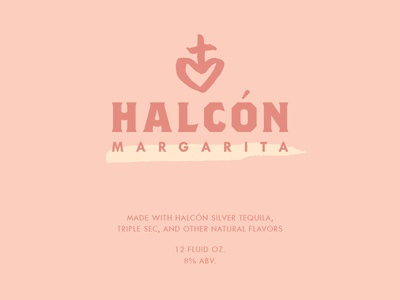 Halcón Tequila Margarita label close-up