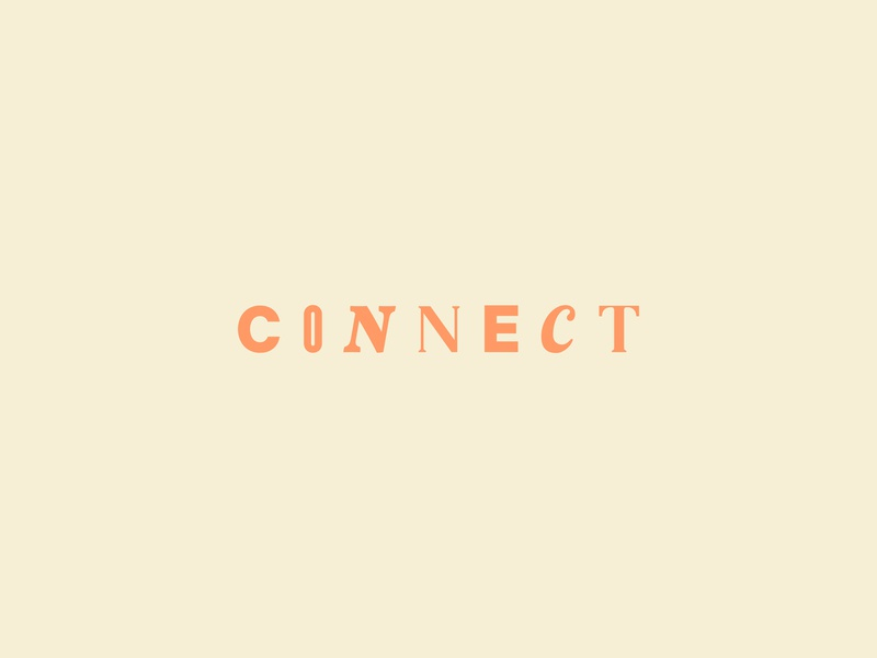 Connect Lettermark fun logotype lettermark letter typeface connect