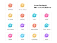 Icons Design Of  Mid-Autumn Festival(2)