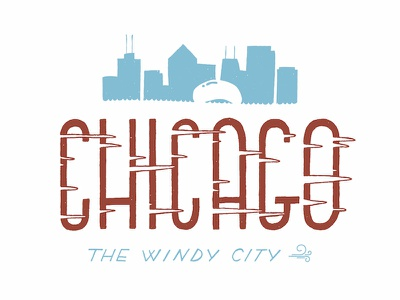 Windy City custom type chicago travel type hand lettering lettering