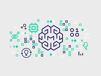 Watson Machine Learning Predictions illustration data machine learning ibm watson banner