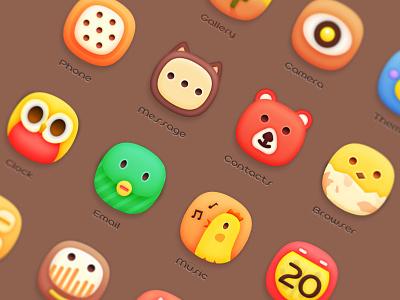 Animal Park cute animal icon ui theme