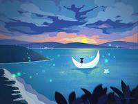带上星星和月亮一起去看日出~~~