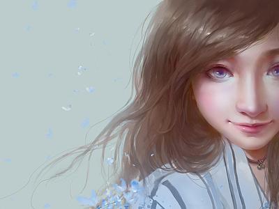 Girlfriend cg illustration girlfriend