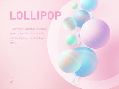 Lollipop Illustration pink lollipop sweet illustration