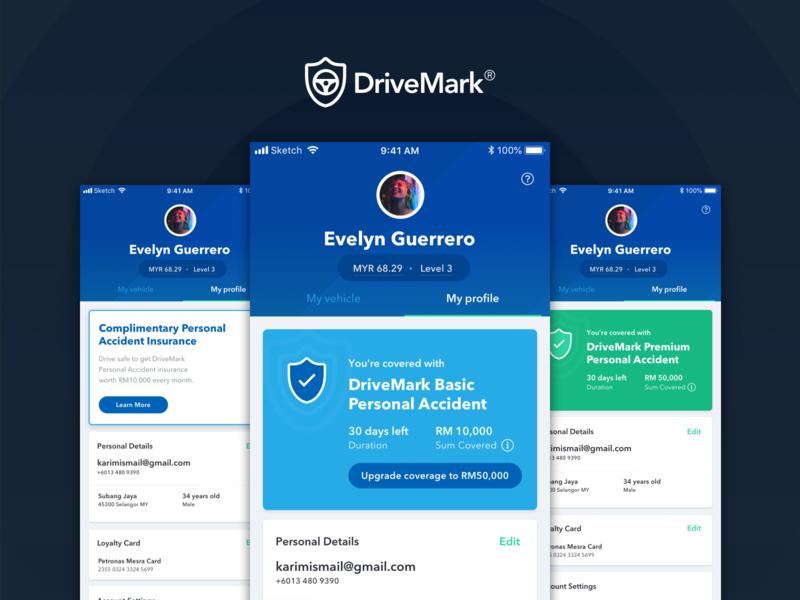 DriveMark - Profile States insurance company profile card insurance states
