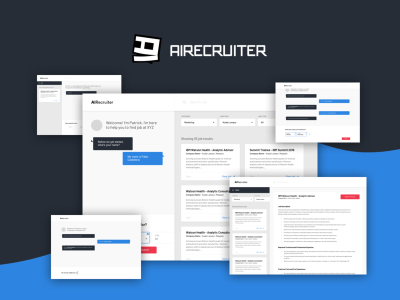 AIRecruitor App - A chatbot for jobs desktop app app dashboard kuala lumpur malaysia chatbot jobs