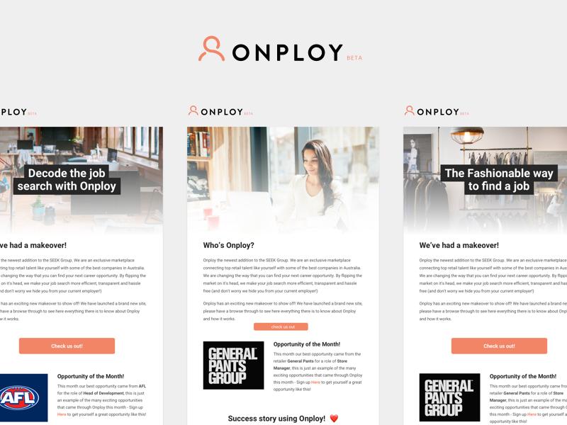 Onploy - Newsletter onploy job newsletter