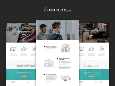 Onploy.com - How It Works Page signup candidate job forms input login create account onploy employer employee