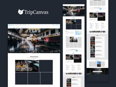 Tripcanvas - Destination Index timeline review wordpress travel destination