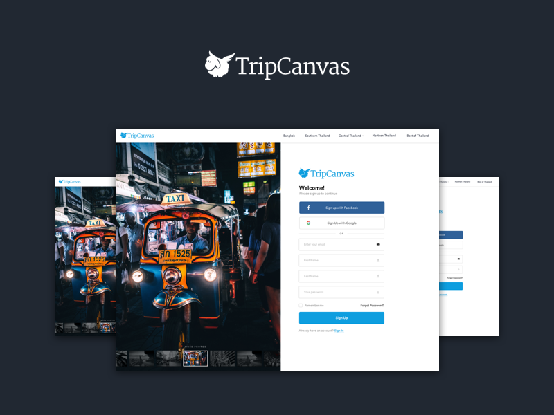 Tripcanvas   authentication