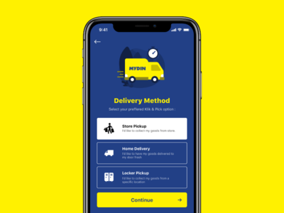 Mydin - Delivery Method cart commerce shopping method delivery