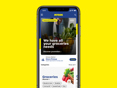 Mydin - Homepage delivery shopping commerce landing home