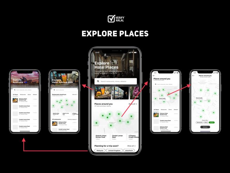 Verify Halal - Explore Places mark list shop restaurants map places