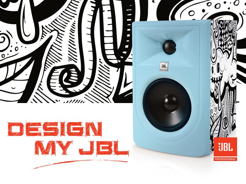 Design My JBL illustration audio email logo web page landing page branding art direction