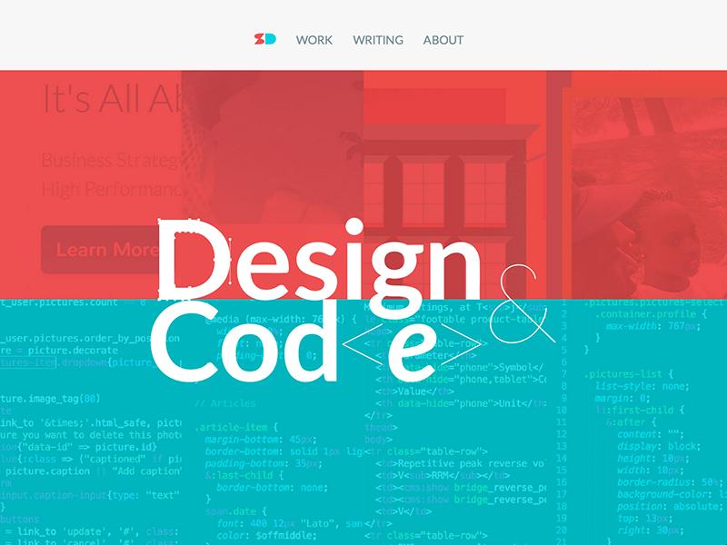 Personal Site redesign responsive website web design