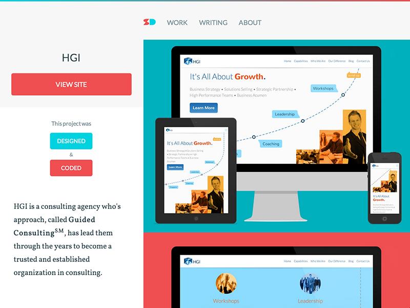 Personal Site Redesign website web design responsive portfolio