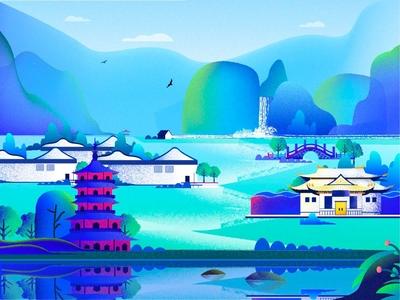 Landscape noise illustration