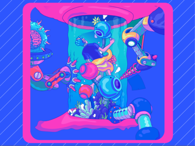 Underwater camera illustration