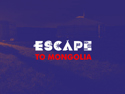 Escape To Mongolia branding mongolia nomadic logo