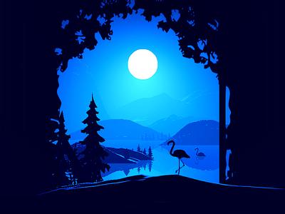 Scenery Illustration gif 插图