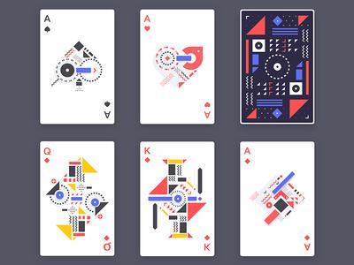 Poker triangle poker figure geometric card