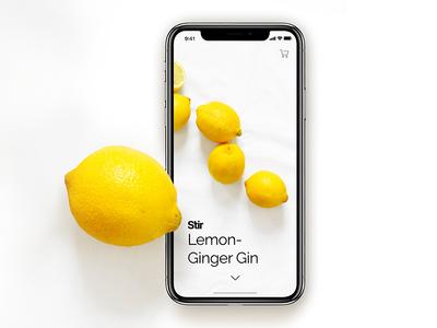 Stir / Lemon-Ginger teaser mobile ios