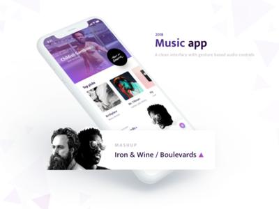 Music App / Home artist profile mobile ios music microinteraction ui ux gesture gestures