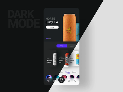 Untappd / Prototype 2 darkmode concept ui ux mobile app ios beer prototype animation motion microinteraction chart app  design graph darkui