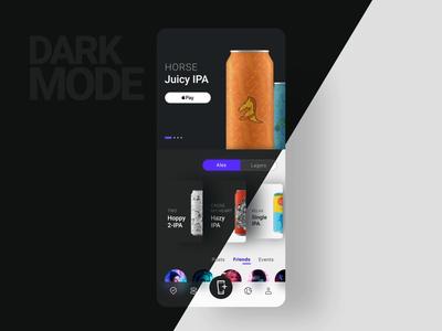 Untappd / Prototype 2 darkmode concept ui ux mobile app ios beer prototype animation motion microinteraction chart app  design graph darkui