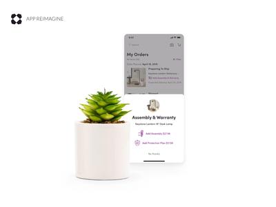 Wayfair App Reimagined - Assembly & Warranty