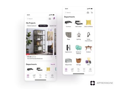 Wayfair App Reimagined - Home & Departments
