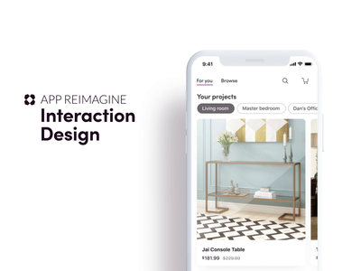Wayfair App Reimagined / Prototype 1 ecommerce lead redesign android concept prototype animation ux ui mobile ios