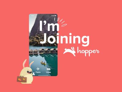 I'm joining Hopper very soon! motion design design mobile app design android ios mobile travel travel app