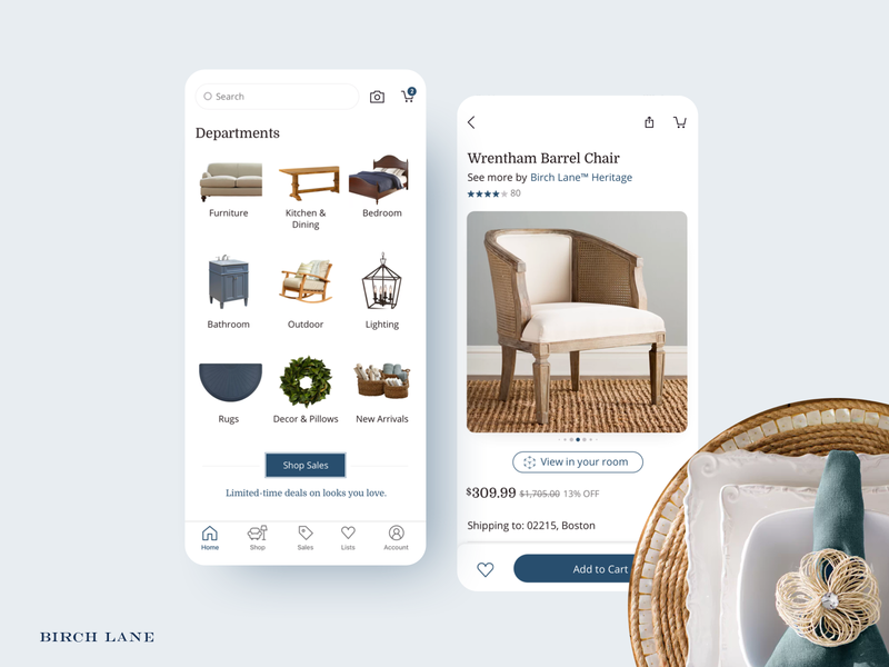 Birch Lane iOS and Android Launch / Static 2 ios app ecommerce launch design app android app lead android ux ui ios mobile