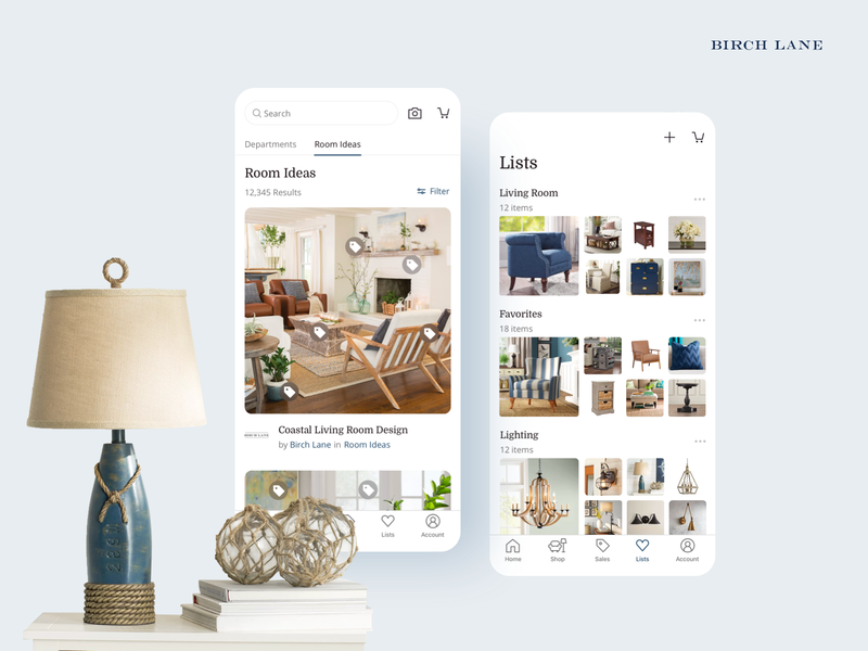Birch Lane iOS and Android Launch / Static 3 ecommerce ios app android app lead design app android ux ui mobile ios