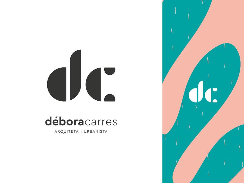 Débora Carres - Architect visual identity geometic geometry logotype constructivism brutalism architect architecture logo design bauhaus monogram typography logo branding design icon illustration flat minimal simple
