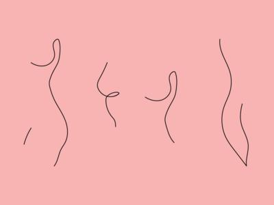Woman body lineart health gynecology nude women in illustration pattern one line body lineart woman illustration women woman logo design icon branding vector illustration flat minimal simple
