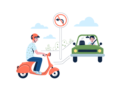 Illustrations for Injury lawyer work vector illustration law firm accident injured scooter ui illustration traffic law injury icon branding character vector ui ux illustration flat minimal simple