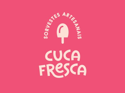 Cuca Fresca visual identity brand letter ice cream logo design mark lettermark lettering logotype logo cartoon colorful design icon branding vector illustration flat minimal simple