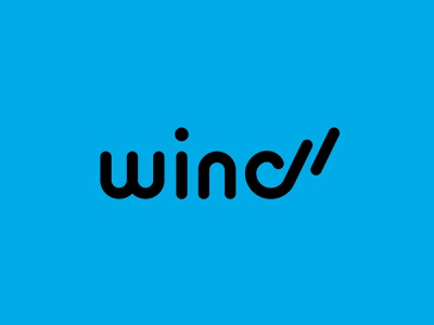 Wind Gum typeface type blue visual identity logos typogaphy brand mark icon design logotype wind logo design icon branding flat minimal simple