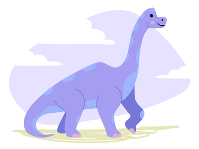 Cute Dino flat illustration cartoon dinos minimalist illustrator purple dinosaur dino mascot animal icon colorful character ui ux vector illustration flat minimal simple