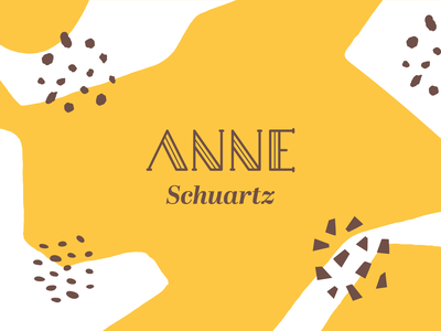 Anne Schuartz simplicity yellow brand design brand mark font design font logotypes logotipo visual identity logotype typography logo icon branding vector illustration flat minimal simple