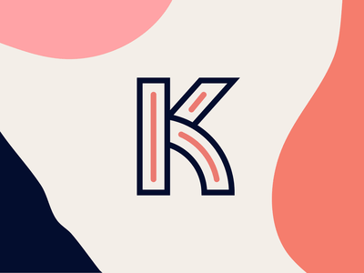 K lettermark typeface type brand identity letter brand design brand k logo logotype logos icons lettermark mark typography logo icon branding vector flat minimal simple