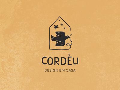 Cordèu Design visual identity brand icon house star brasil brazil architectural decor home bird cordel branding logo design vector illustration flat minimal simple