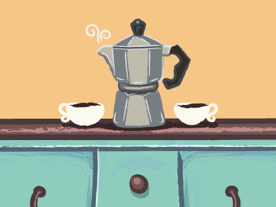 Coffee - Preview 1 illustrator icon ui ux branding simple forniture vintage classic vector flat coffee