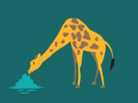 Map illustrations set - Giraffe