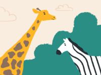 Map illustrations set - Animals