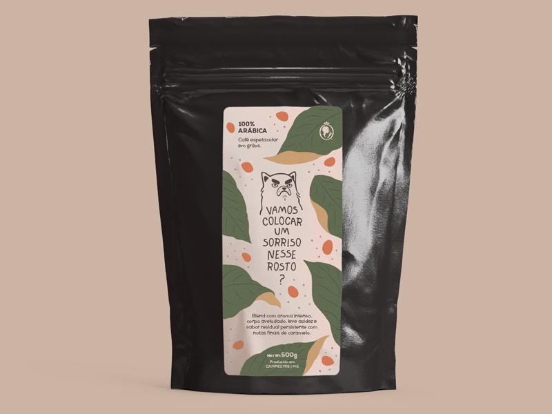 Coffee Label pack design food label product coffe package package design label design coffee bag coffee label mockup mock up adobe dimension label packaging label cofee design branding illustration simple minimal