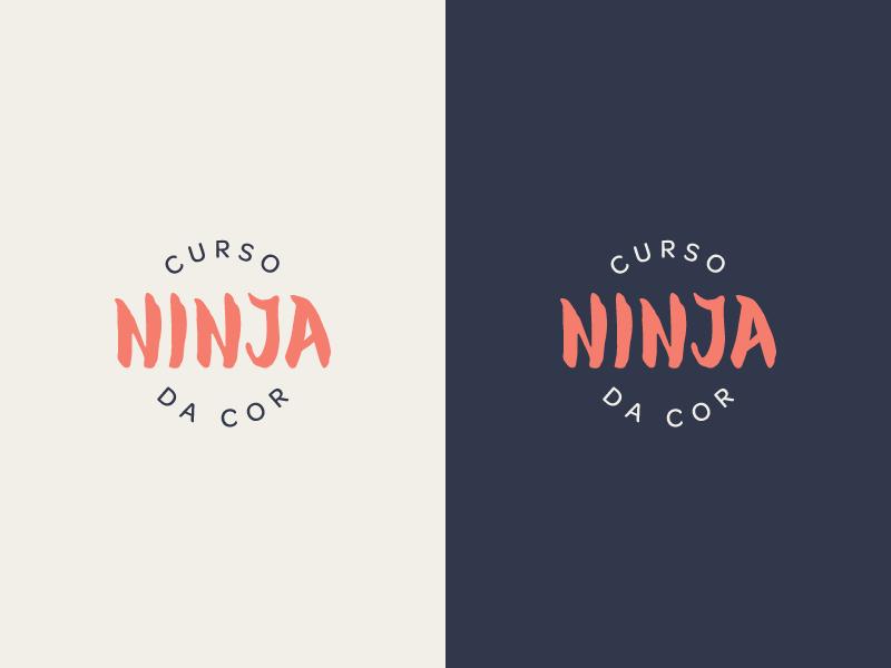Color Ninja - Brand letter identity illustrator type ui ux kanji japan logotipo logotype lettermark lettering app logo typography branding vector flat simple minimal